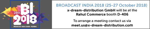 x-dream-distribution at Broadcast India 2018 booth D-406